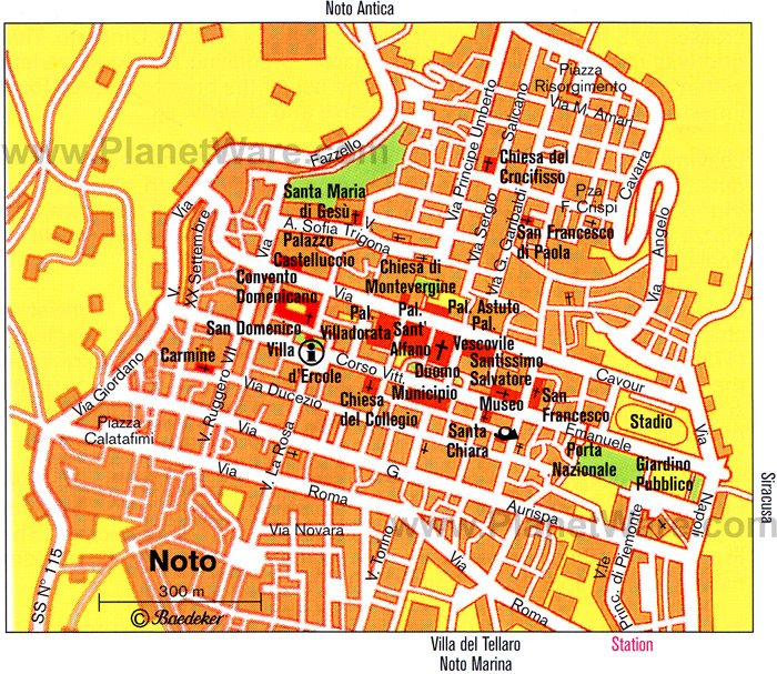 Noto Map - Tourist Attractions