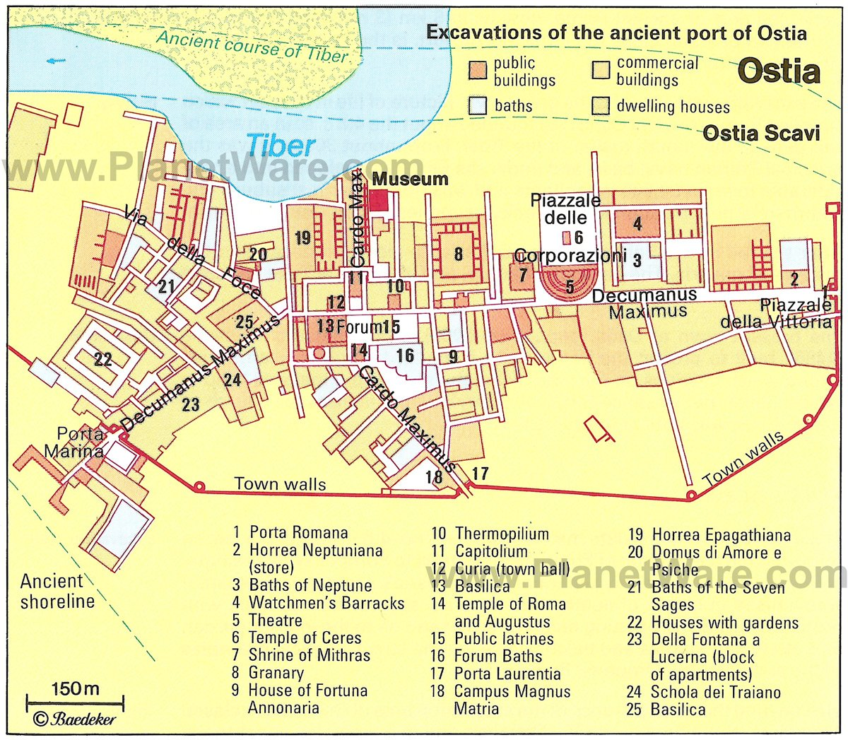 Ostia - Site map