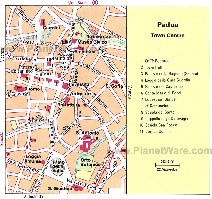 Padua Map - Tourist Attractions