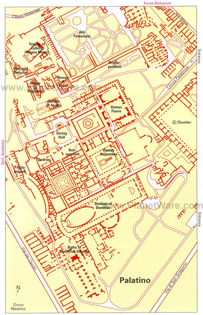Palatine Hill - Site map