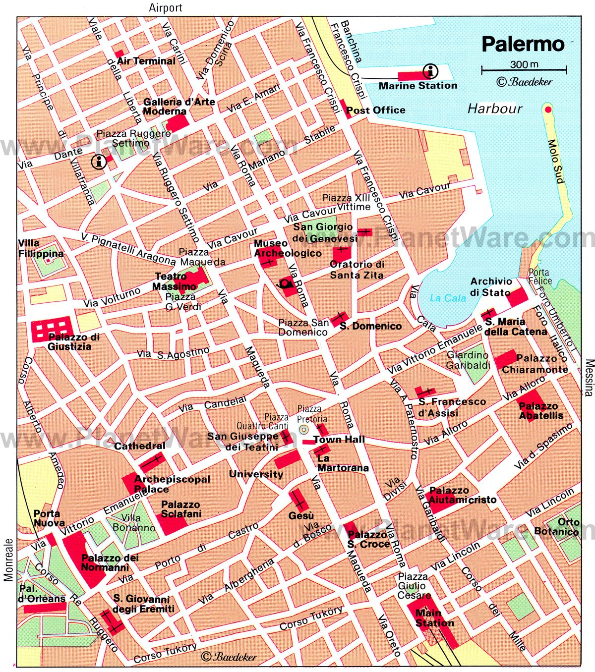 15 TopRated Tourist Attractions in Palermo – Sicily Tourist Map