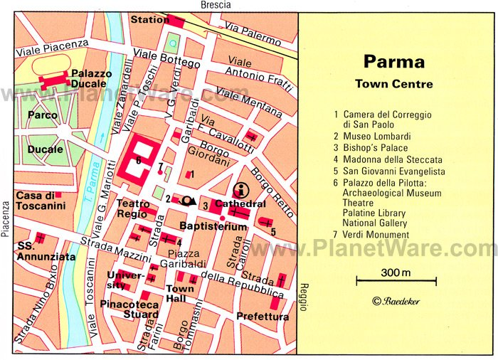 Parma Town Centre Map - Tourist Attractions