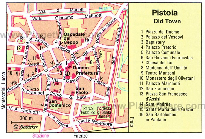 Pistoia Map - Tourist Attractions
