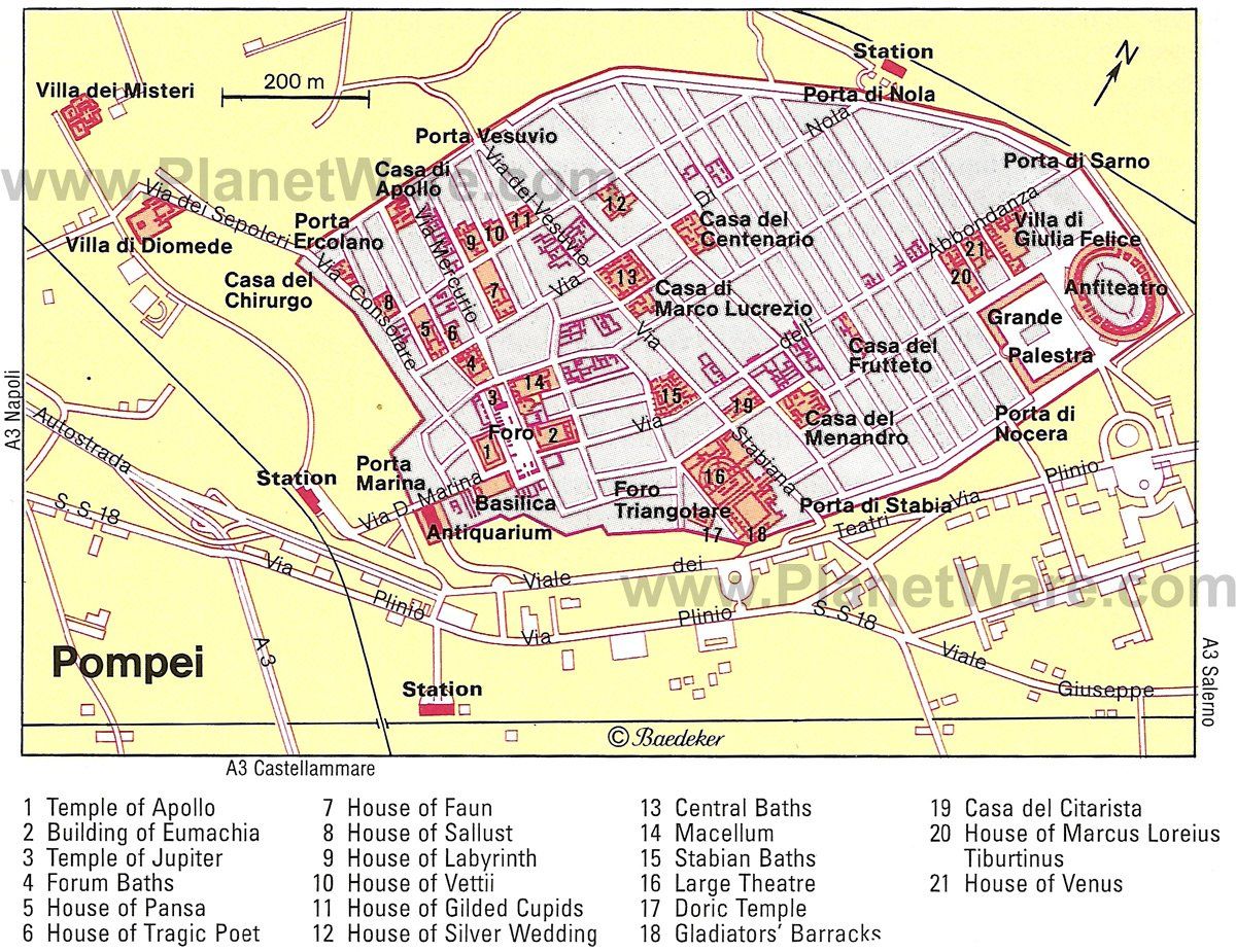 Map Of Pompeii Visiting Pompeii: 11 Top Attractions, Tips & Tours | PlanetWare