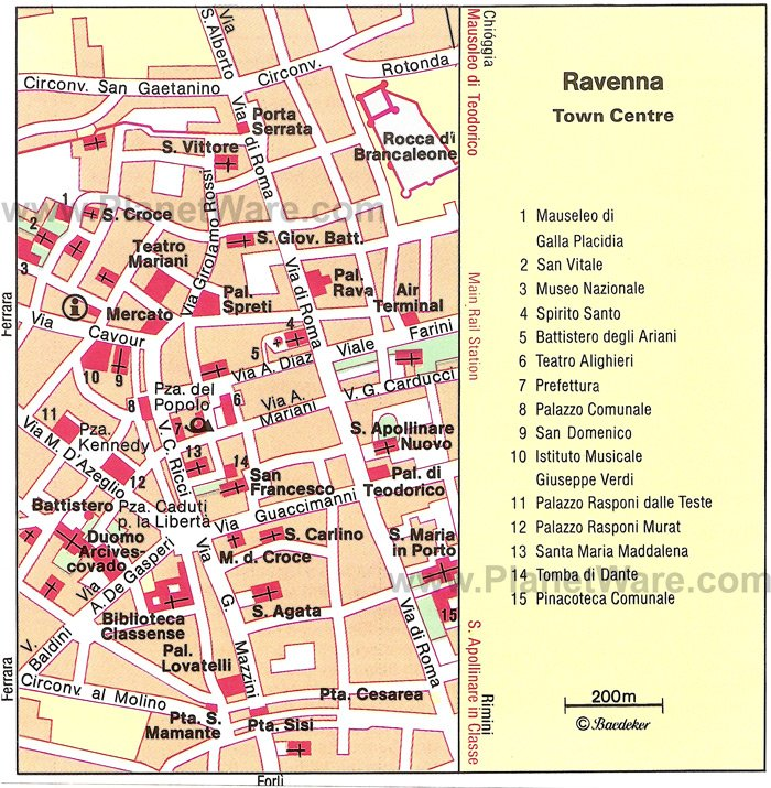 Ravenna Map - Tourist Attractions