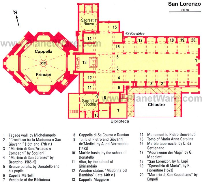 San Lorenzo - Floor plan map