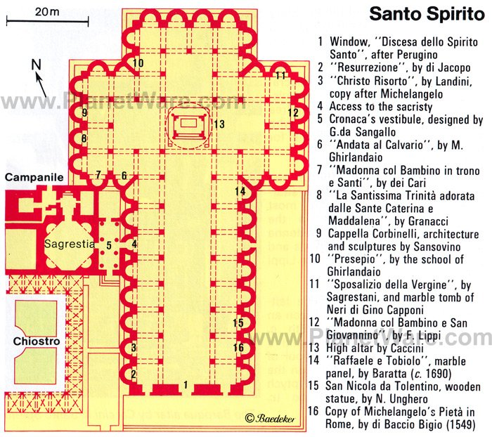 Santo Spirito - Floor plan map