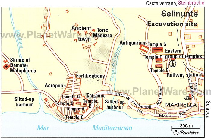 Selinunte - Excavation site map
