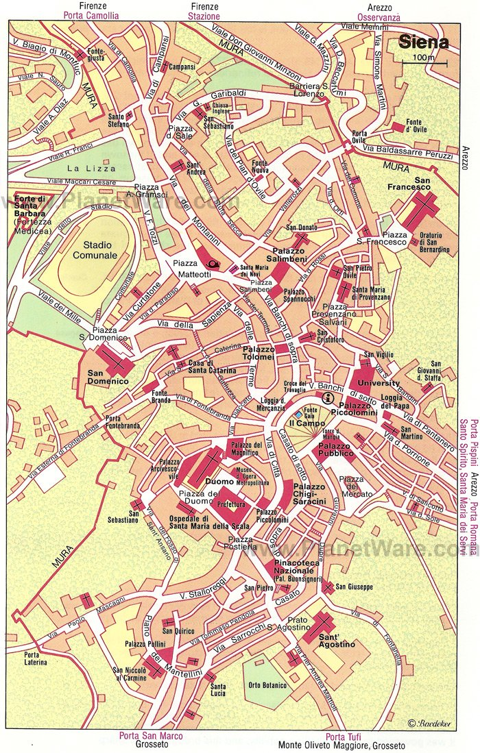 12 TopRated Tourist Attractions in Siena – Florence Tourist Attractions Map