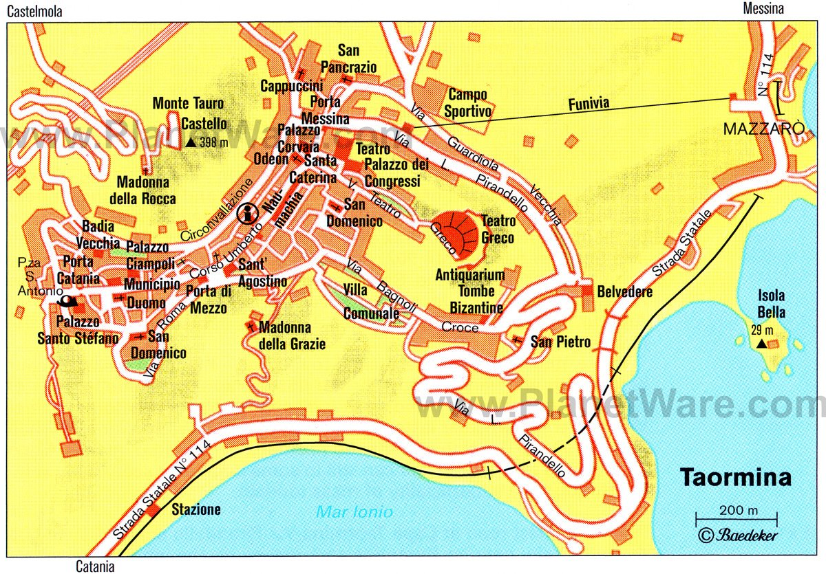 Map Of Sicily Taormina Taormina Italy Cruise Port of Call
