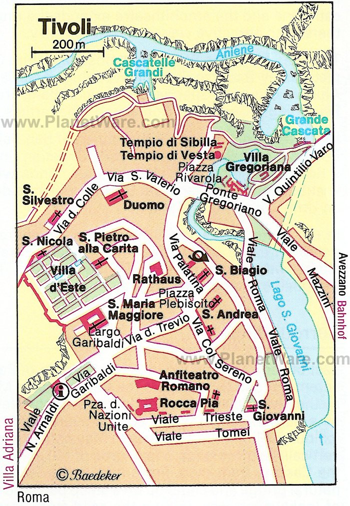 Tivoli Map - Tourist Attractions