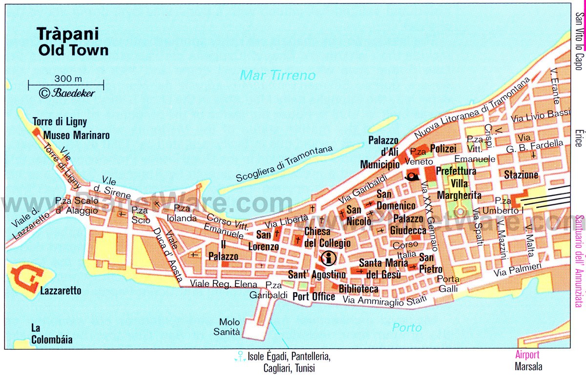 Trapani - Old Town - Floor plan map