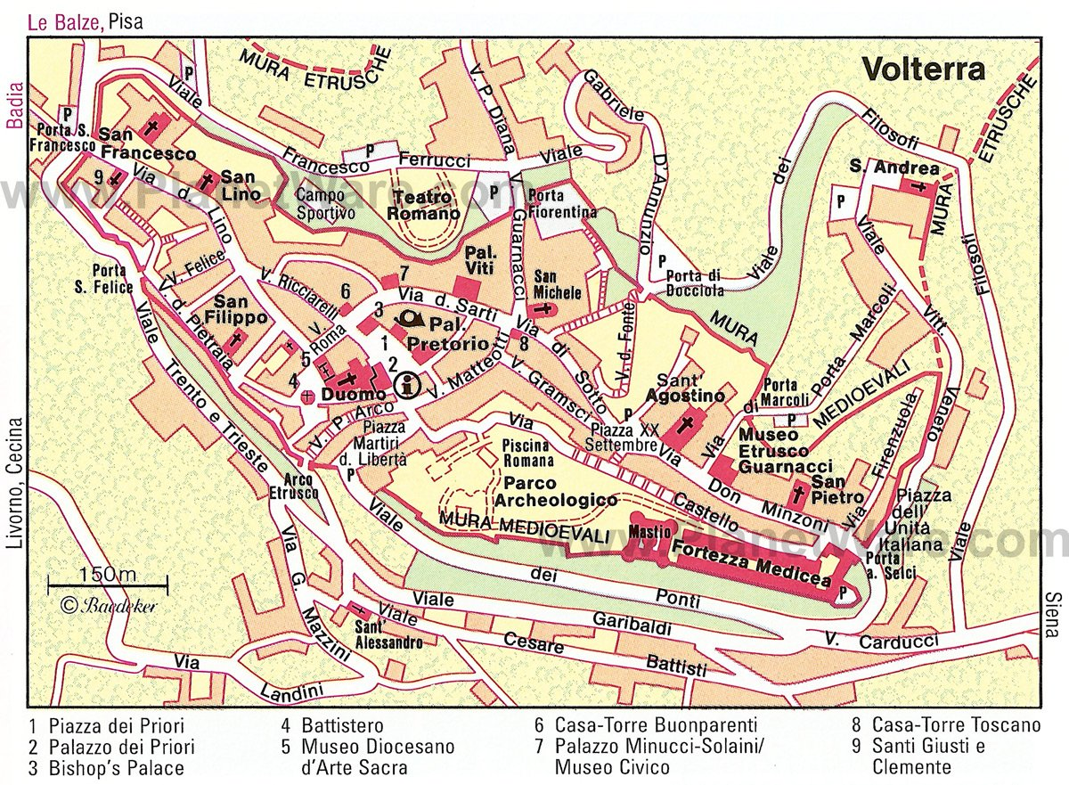 Volterra Map - Tourist Attractions
