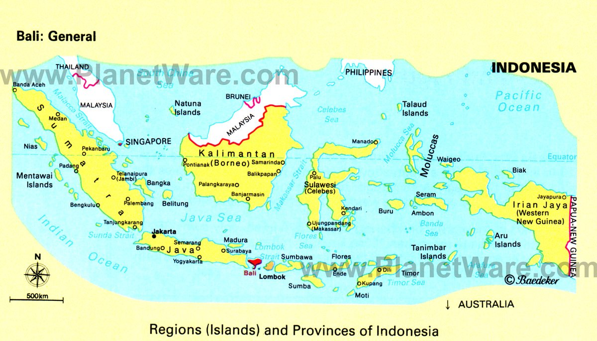 Map of Regions and Provinces of Indonesia PlanetWare