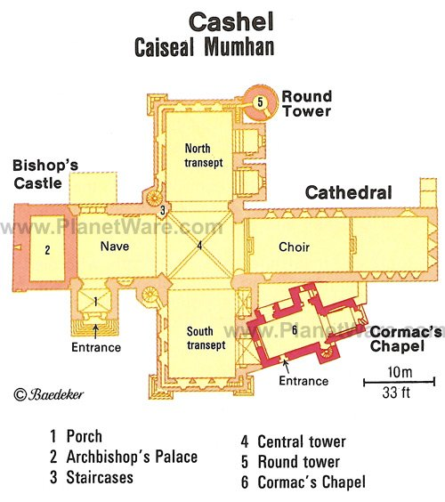 Cashel - Floor plan map