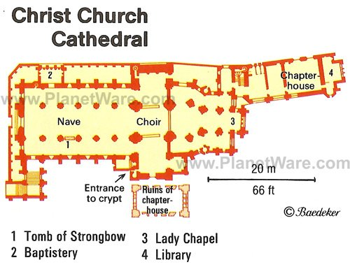 Christ Church Cathedral - Floor plan map