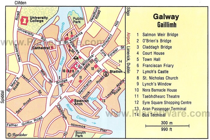 10 TopRated Tourist Attractions in Galway – Map Of Ireland With Tourist Attractions