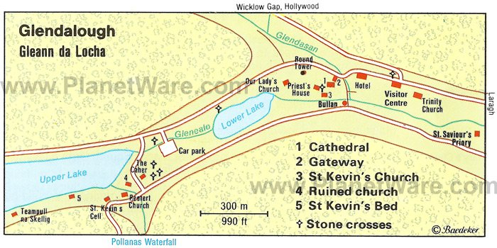 Glendalough - Map