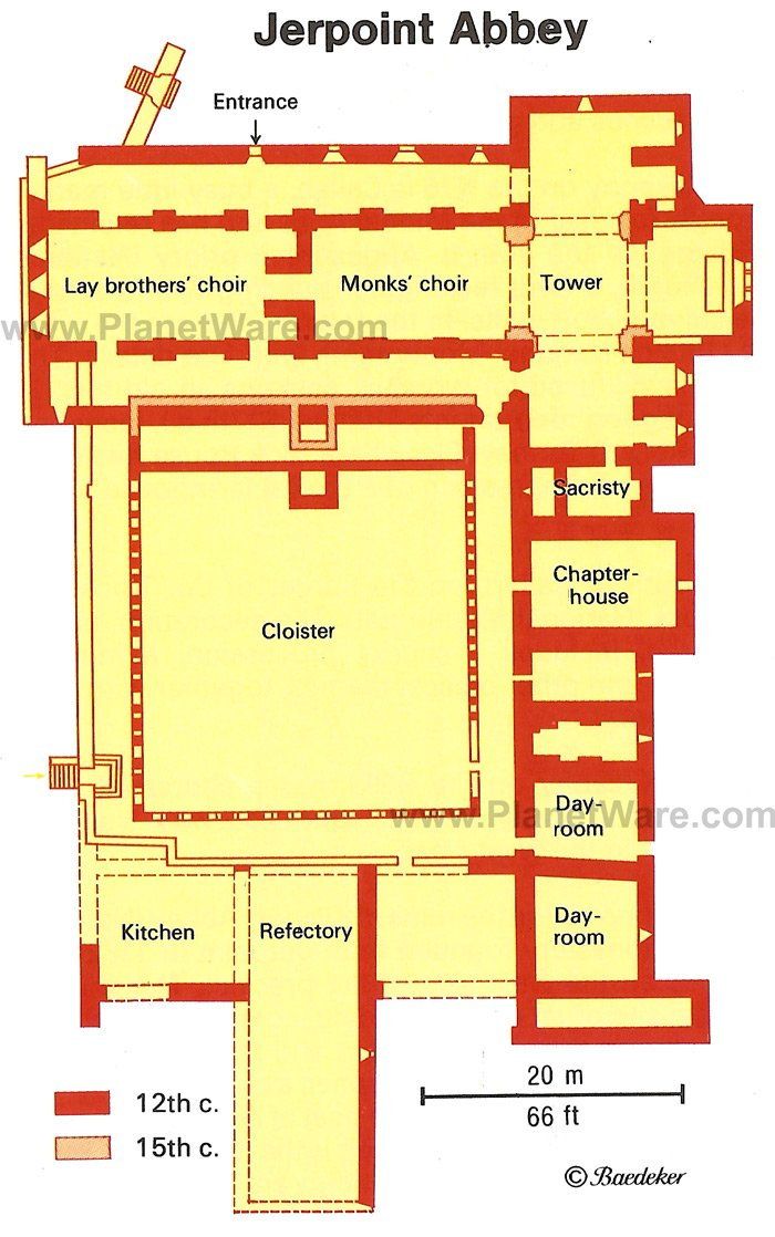 Jerpoint Abbey - Floor plan map