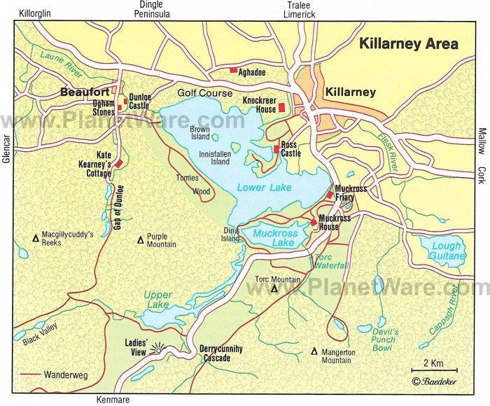 8 TopRated Tourist Attractions in Killarney – Map Of Ireland With Tourist Attractions