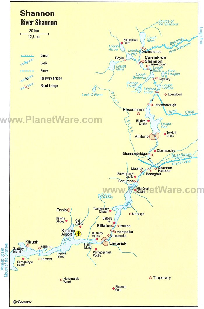 Map of River Shannon