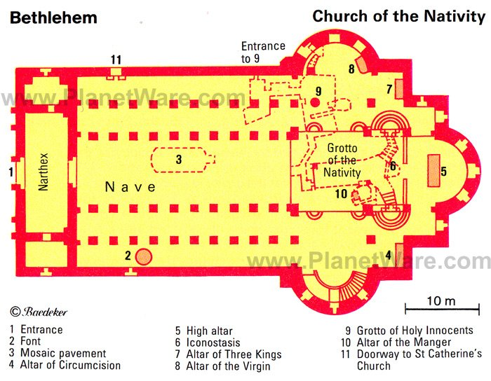 Bethlehem - Church of the Nativity - Floor plan map