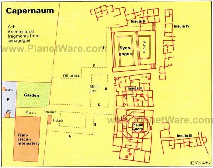 Capernaum - Floor plan map