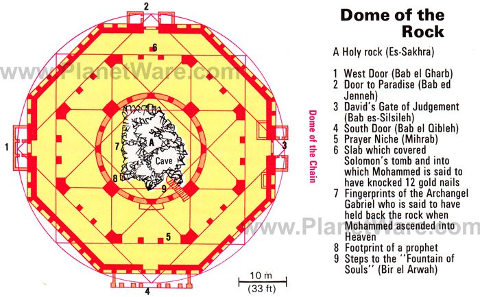 Jerusalem - Dome of the Rock - Floor plan map