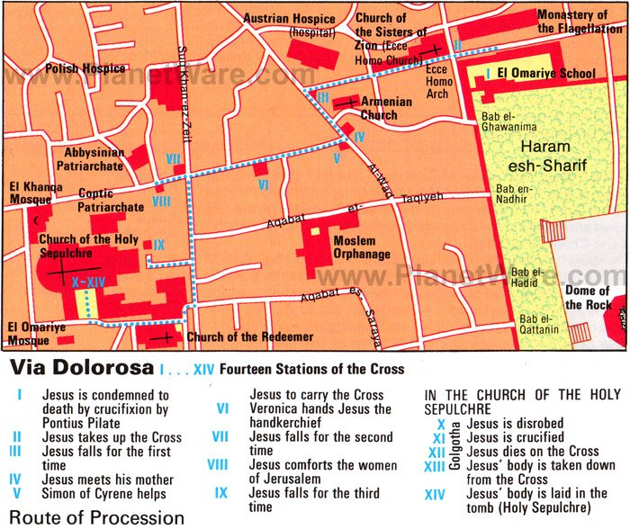Jerusalem Via Dolorosa - Floor plan map