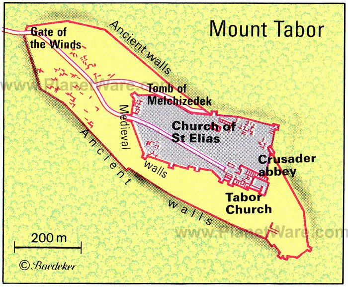 Mount Tabor Map - Tourist Attractions