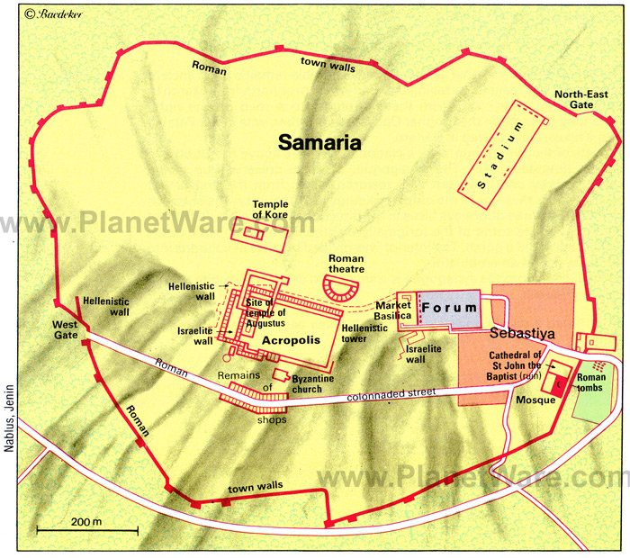 Samaria Map - Tourist Attractions