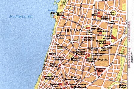 Map of Tel Aviv-Yafo | PlanetWareyafo