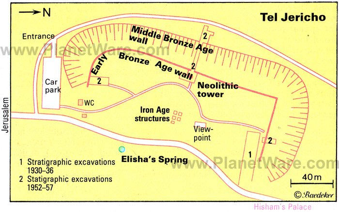 Tel Jericho - Floor plan map