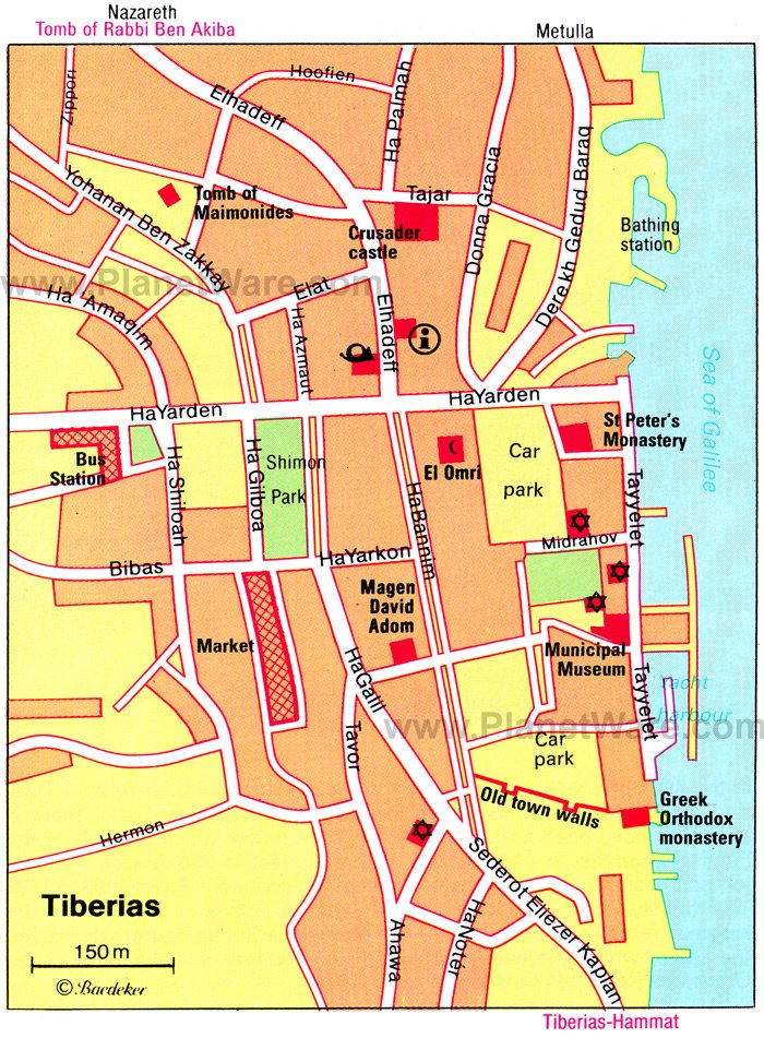 Tiberias Map - Tourist Attractions