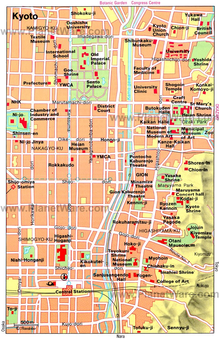 Kyoto Map - Tourist Attractions