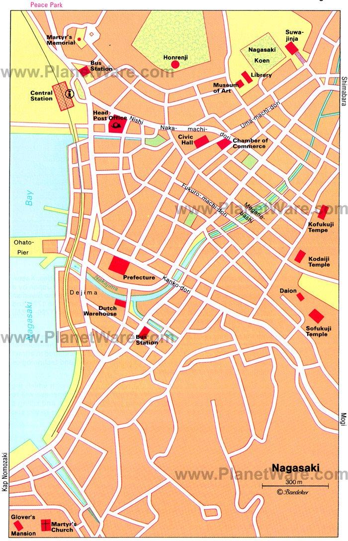 Japan Travel Guide PlanetWare - Japan map nagasaki