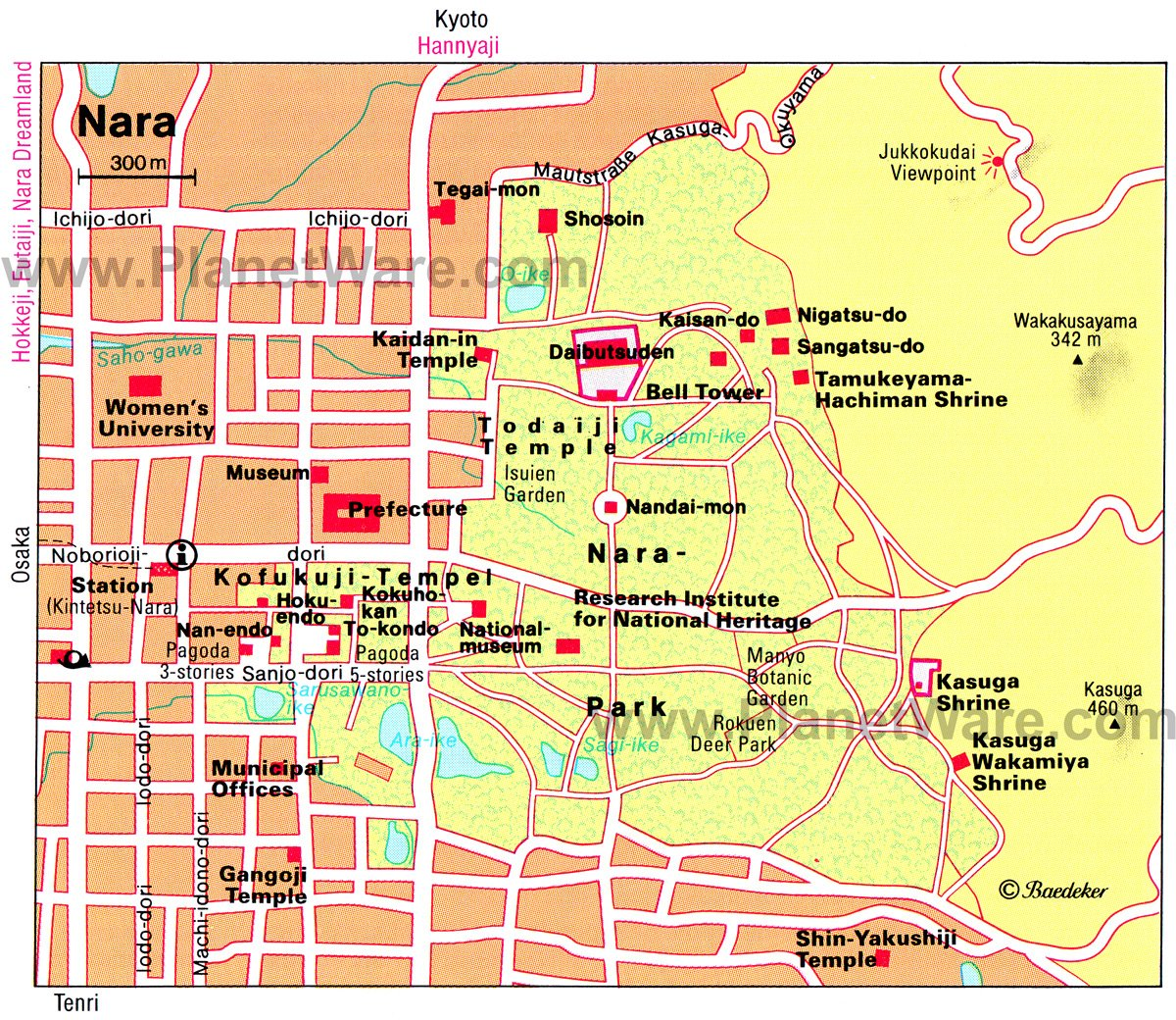 Nara Map - Tourist Attractions