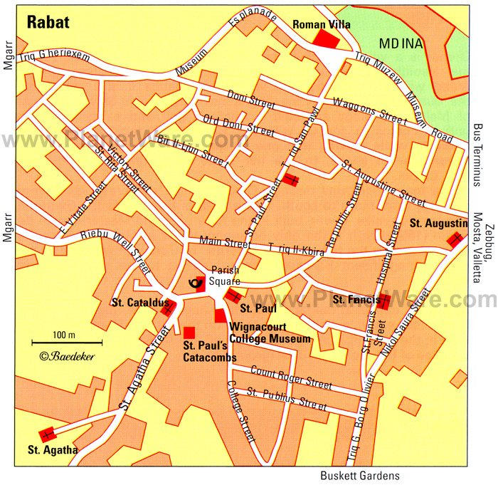 Rabat Map - Tourist Attractions