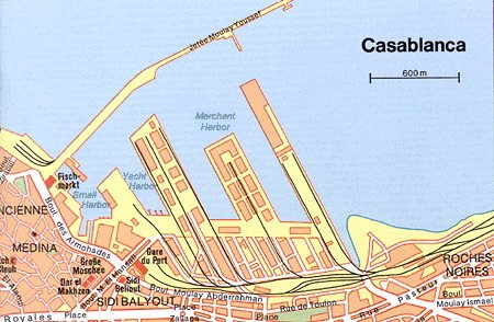 Some attractions within Casablanca Northeast Map: