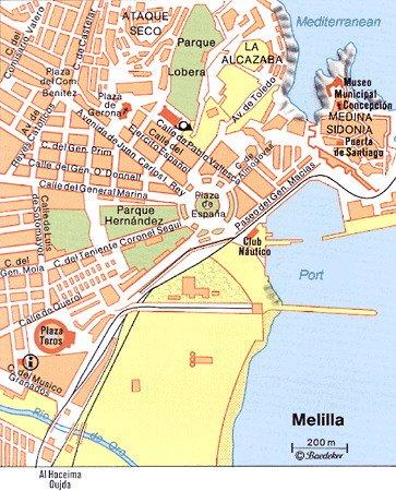 Melilla Spain Map.Melilla Spain Cruise Port Of Call