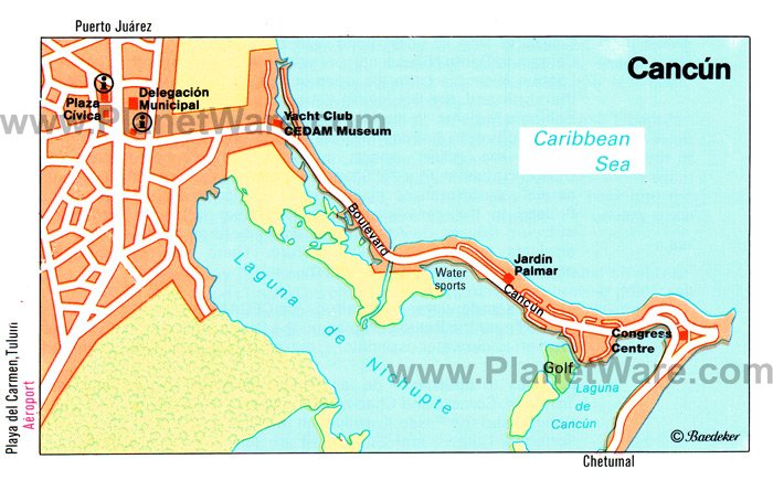 Cancun Map - Tourist Attractions