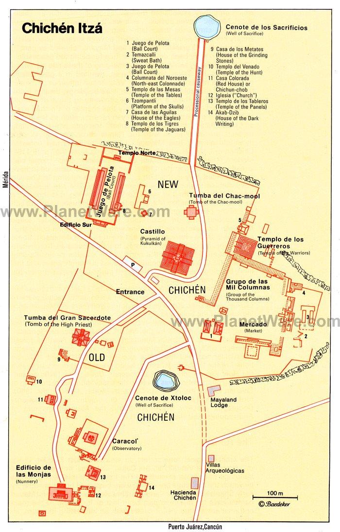 Chichen Itza Map Visiting Chichen Itza from Cancun: 12 Highlights, Tips & Tours  Chichen Itza Map