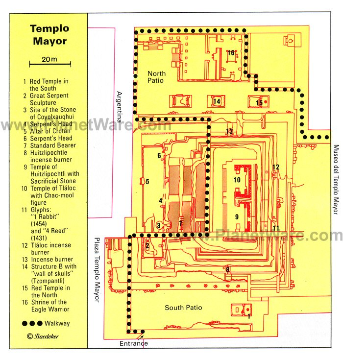 Templo Mayor - Floor plan map
