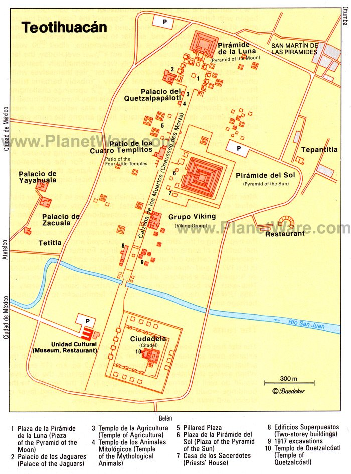 Teotihuacan - Site map