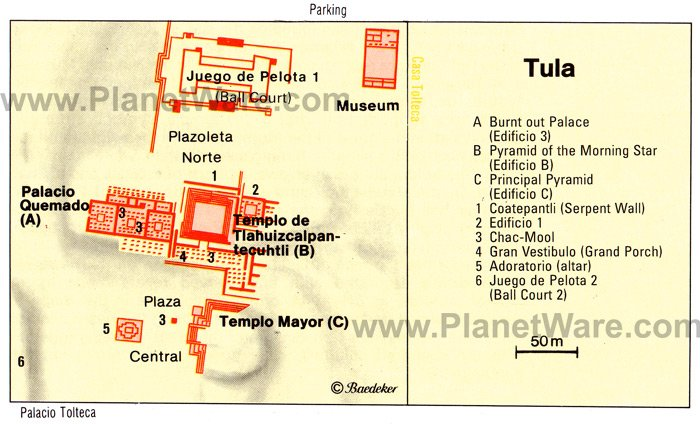 Tula Map - Tourist Attractions