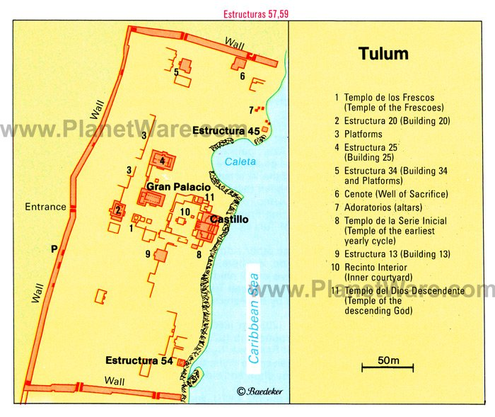 Tulum - Site map