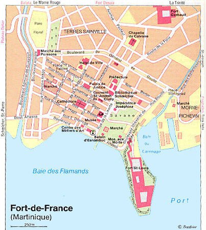 plan cule Fort-de-France