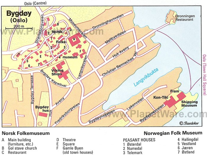 Bygdøy (Oslo) Map - Tourist Attractions