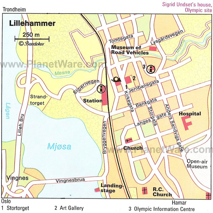 Lillehammer Map - Tourist Attractions