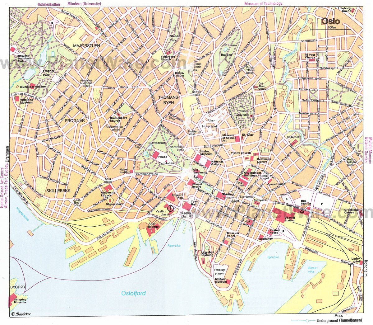 TopRated Tourist Attractions In Oslo PlanetWare - Norway map highlights